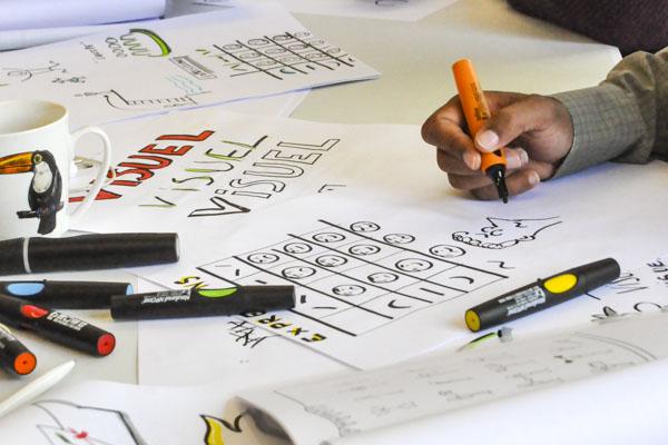 Formation en sketchnoting avec marqueurs Neuland