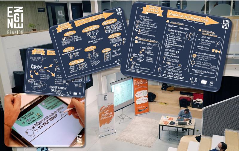 """Sketchnote de la conférence de Yves Pigneur : """"Reinventing your Business Model"""" (au Reaktor Demo Day)"""