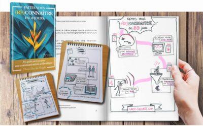 Faites-vous (re)connaître en 30 jours – le livre en Sketchnotes de Marie Van den Berghe